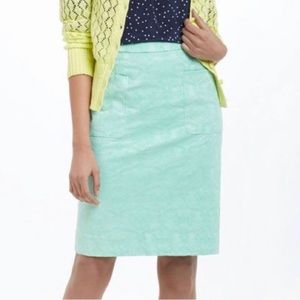 Moulinette Soeurs Mint Green Damask Brocade Skirt